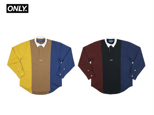 ONLY NY|Tri-Color Popover Shirt