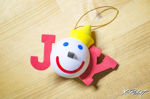 Jack in the box HOLIDAY JOY(red) Antenna Topper