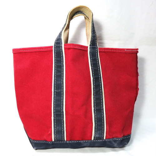 80's L.L.BEAN DELUXE BOAT&TOTE RED/NAVY (エルエルビーン デラックストート)