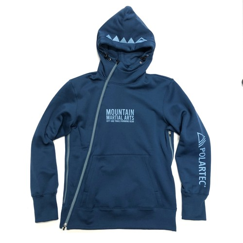 Mountain Martial Arts / MMA POLARTEC®︎ PSP Slant Zip Hoodie 《Sea Navy》