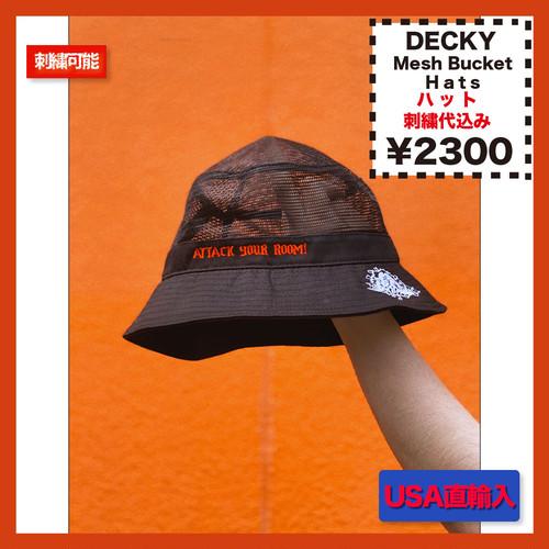 DECKY Mesh Bucket Hats (品番DECKY458)