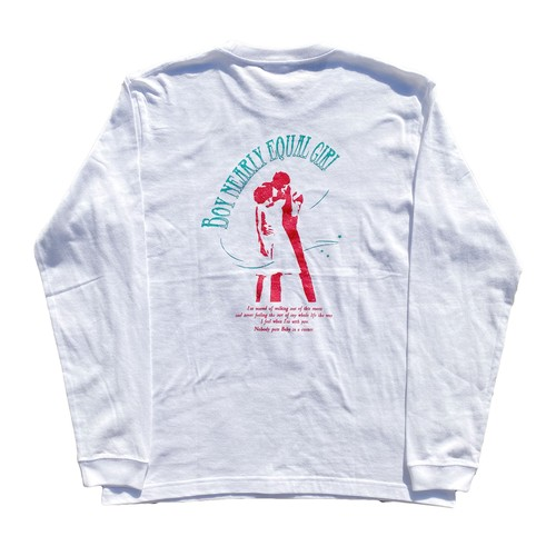 Dirty.d L/S tee(White)