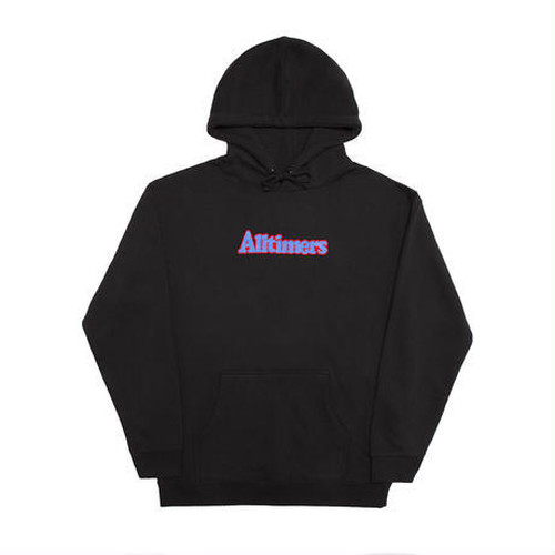 ALLTIMERS BROADWAY EMBROIDERED HOODY BLACK