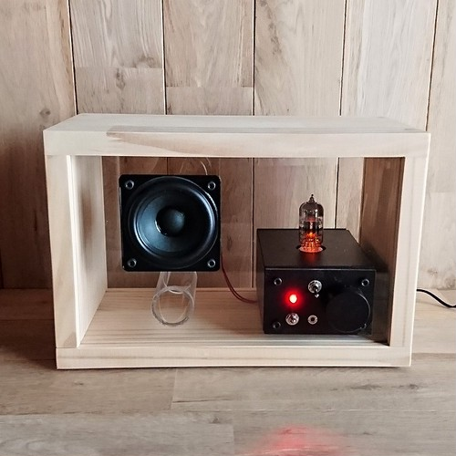 acrylic speaker pine [真空管アンプ内蔵]