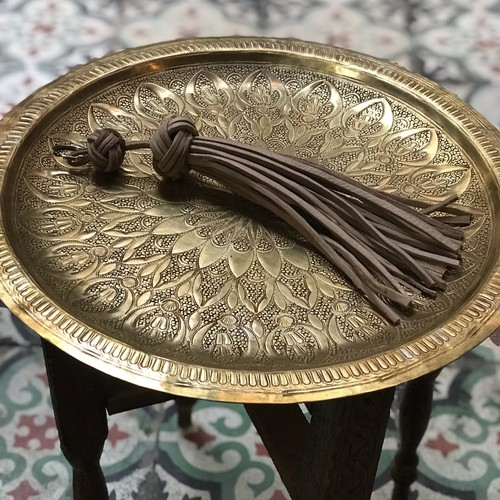 morocco leather tassel small