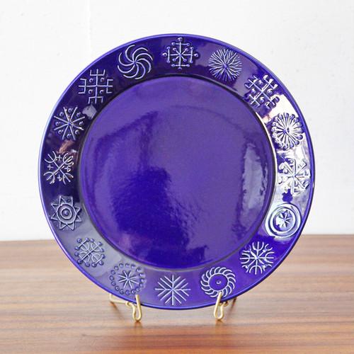 1960年代 イギリス Portmeirion Totem Blue ディナープレート ポートメリオン トーテム 大皿