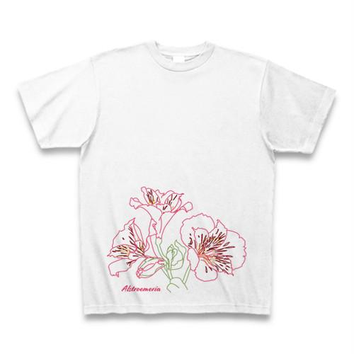 アルストロメリア フラワーイラストTシャツ