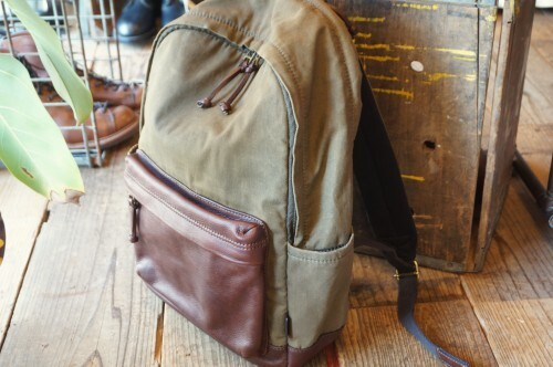 "FOSSIL wax-cotton leather combination Backpack ""BUCKNER"""
