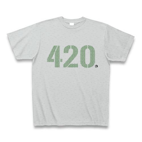"""""""420 """" Tシャツ グレー"""