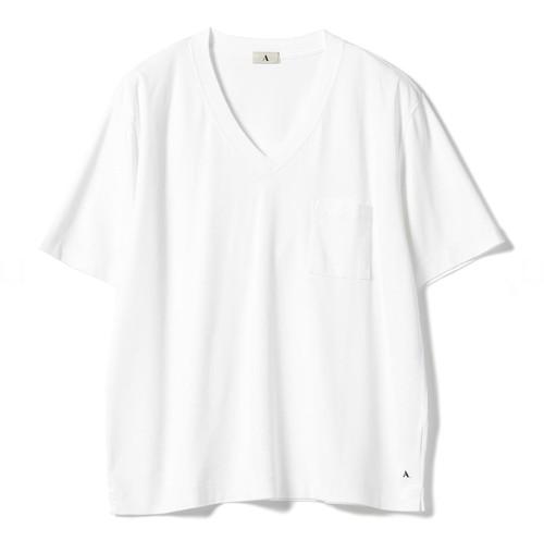 Vネック ポケットTシャツ