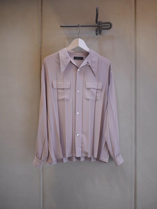 UNDER COVER / PeGC Pleats long sleeve shirt  (GRAY BASE )
