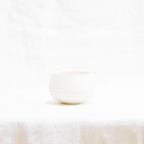 カフェオレボウル 白×白荒土