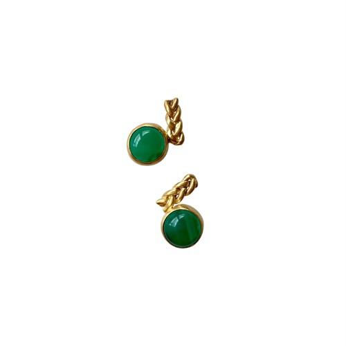 'green eye' pierced earrings