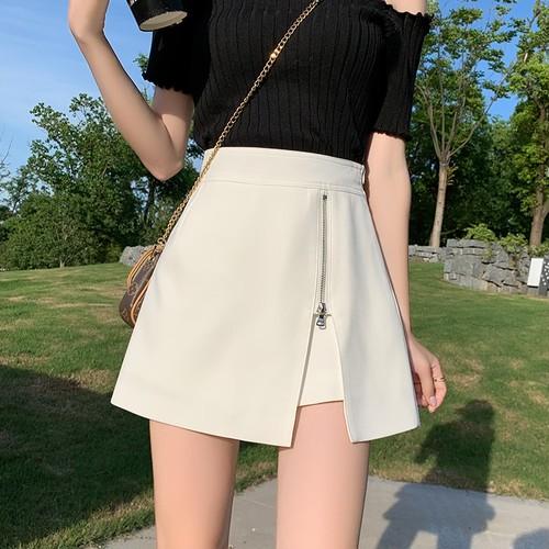 2色/ジップスプリットスカート ・14183