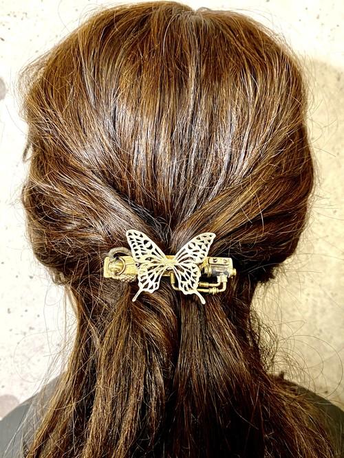 透かしアゲハ蝶のバレッタ(小)