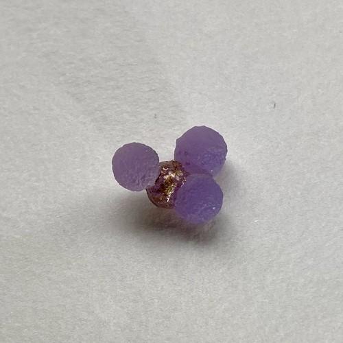 ぶどう玉髄の耳飾り:D