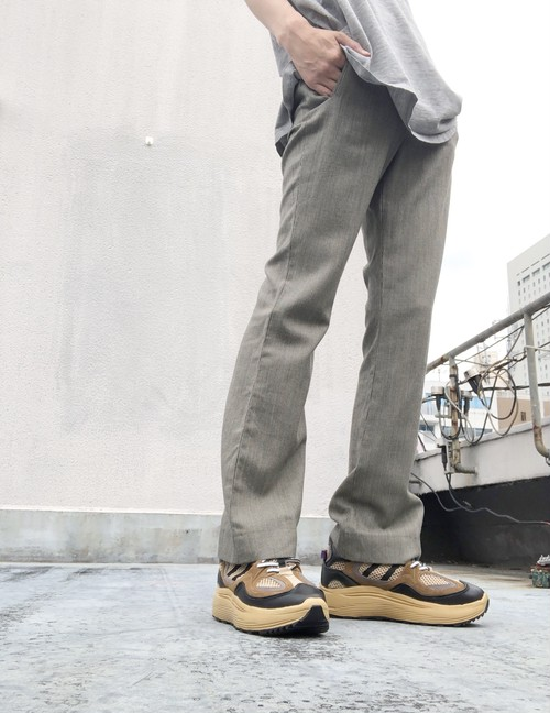 "YVES SAINT LAURENT ""rive gauche"" /  flare checkered trousers"