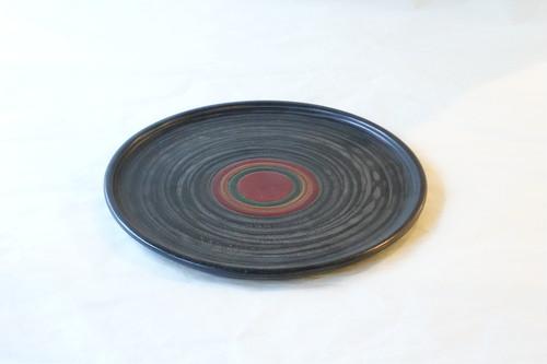 讃岐塗 象谷 独楽(コマ)木製給仕盆 30㎝ 伝統工芸品 すり漆