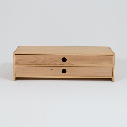 【展示品特価】収納チェスト・2段【1点限り】