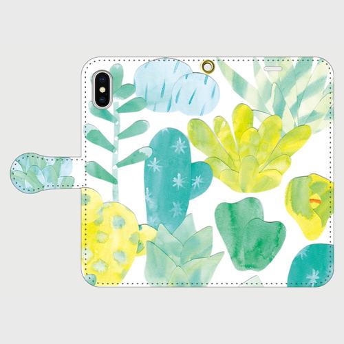 タニクの森 iPhoneX用 手帳型ケース