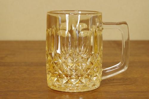 男前!レアカラー 重厚なビールジョッキ ビアグラス タンブラー ガラス食器 昭和レトロ 古道具