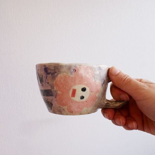 so pottery カップ おはな