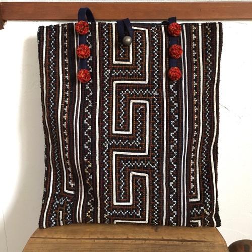 古布刺繍ショルダートートバック