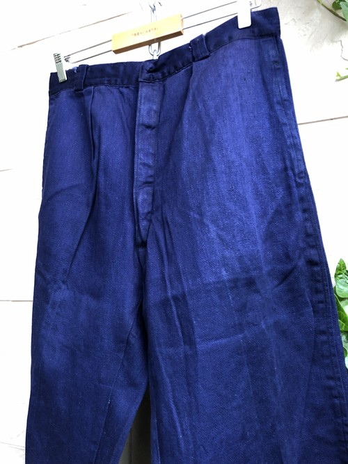 Old Europe blue cotton work trousers
