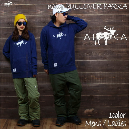 INDIGO CREWNECK PARKA ALASCA moose as-42
