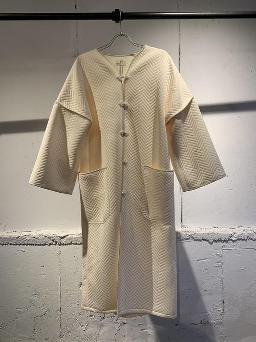 &her   Herringbone China Coat/White