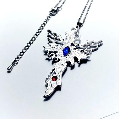 【Wing Crossネックレス】 羽&十字架 / 肌に優しい(金アレ)