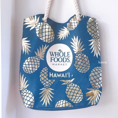 【WHOLE FOODS】 パイナップル ロープトートバック
