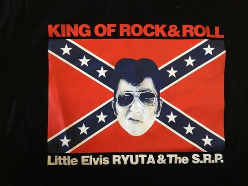 LITTLE ELVIS スタークロス Tシャツ-BLACK