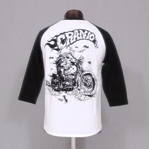 CR-034 バイカー7分袖Tシャツ(BK)