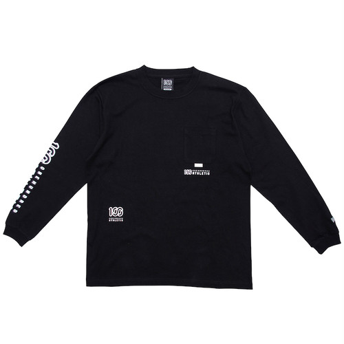 100A SCATTER LOGO L/S TOP WITH POCKET*