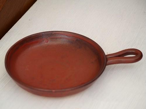 陶のフライパン