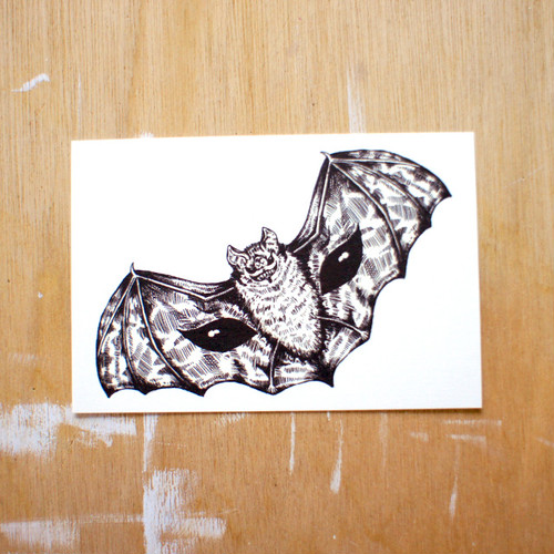 ポストカード150「こうもり」 pc-150 26