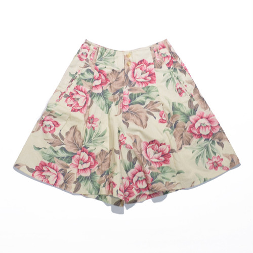 Deadstock★ Ladies OLD BANANA REPUBLIC SAFARI&TRAVEL 花柄 CULOTTE
