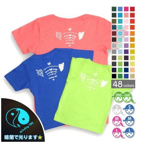☆暗闇で光る☆ テンシとアクマの肩甲骨Tシャツ【選べる48色*12サイズ】