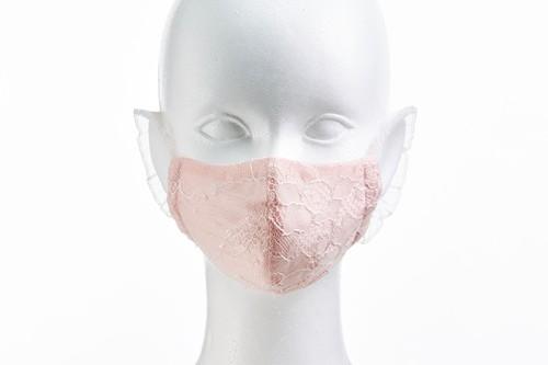 S/S リバーレースマスク (シャンタン&メッシュ) ZE95522 (華奢 花柄) [Color:3色] - 日本製