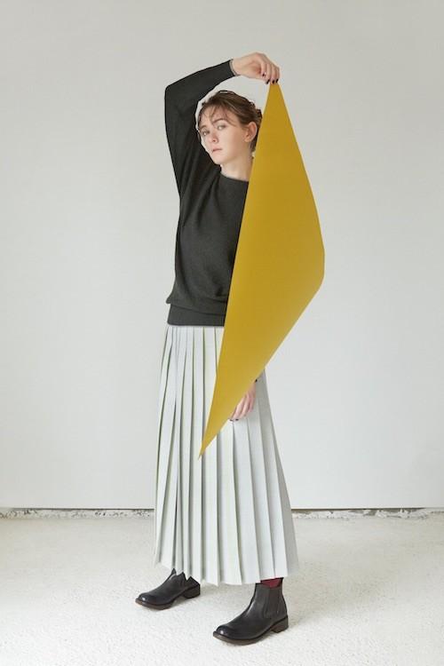 HERRINGBONE プリーツスカート
