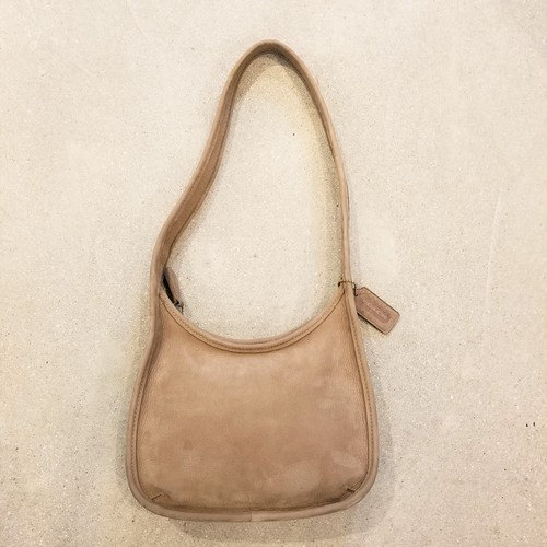 Old COACH leather shoulder bag / Made in USA [B-142]