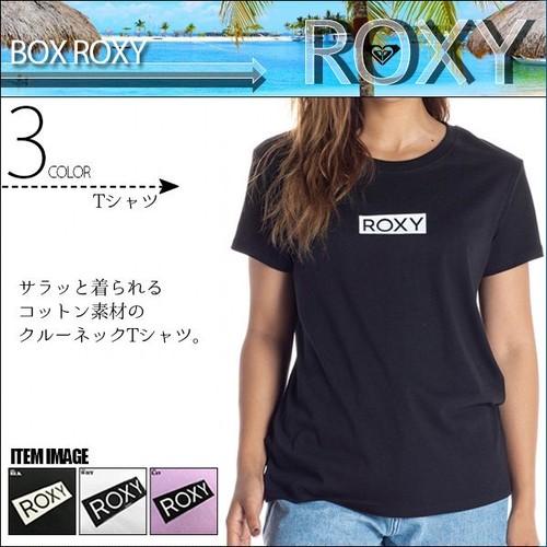 RST202027 ロキシー Tシャツ 半袖 クルーネック レディース タウンユース 旅行 リゾート プレゼント 白 黒 紫 ホワイト ブラック パープル M L 綿 ROXY