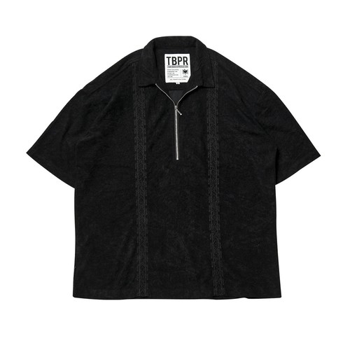 TIGHTBOOTH ENCORE HALF ZIP SHIRT BLACK  L タイトブース