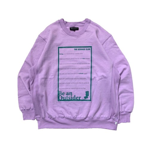 NEWAGE x WHIMSY / BTO CREWNECK SWEATER -PURPLE-