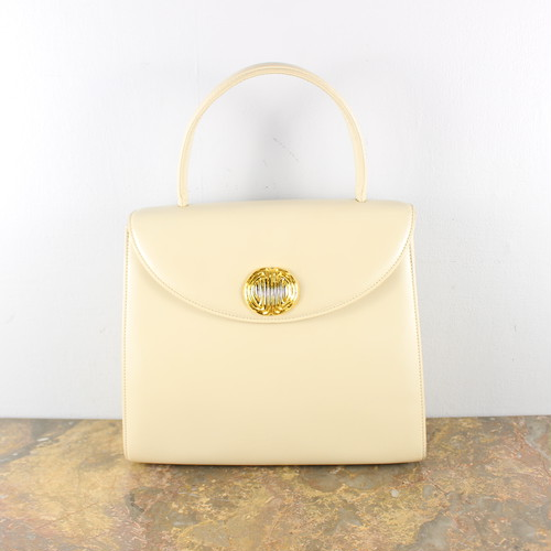 .GIVENCHY GOLD BUTTON LEATHER HAND BAG/ジバンシィ金ボタンレザーハンドバッグ 2000000049120
