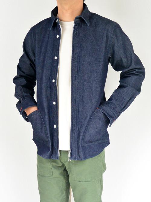 【ラスト1点】weac.(ウィーク)ZIP SHIRTS2 ジップシャツ2  NAVY