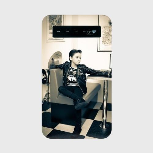 Kane Dennis × KIDS-TOKEI Photographer Akane コラボ モバイルバッテリー + microUSBケーブル(蓄電用コード)  モノクロロック