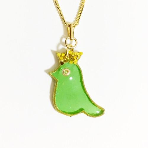 幸せを運ぶ きみどりの鳥ネックレス〜メアリー〜