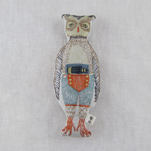CORAL & TUSK Owl Pocket Doll with Binoculars
